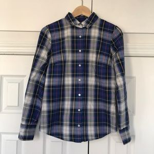 Checkered long sleeve button-up.